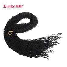 Eunice Синтетическая Коробка Косы Вязание крючком Наращивание волос тонкая кручение 28 дюймов Zizi Лучший!