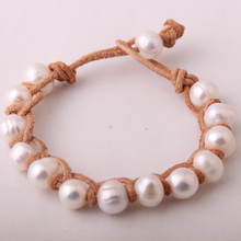 Free shipping Fashion Women Dress Pearl Armband Freshwater Pearls Bracelets(China)