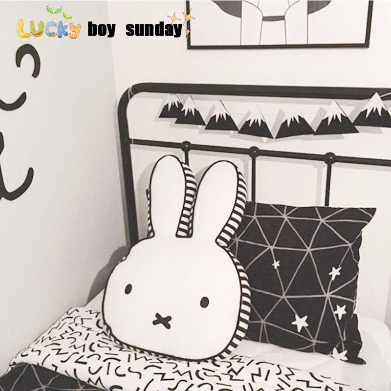 lucky boy sunday cut rabbit pillow for kids room decoration rabbit plush doll rabbit pillow cushion kids toy gift for girlfriend flamingo plush toy pillow pink flamingo cushion baby girl princess room decoration kids doll girls gift home decorate