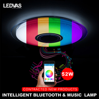 LEDVAS New 52W APP Remote Control Bluetooth Music LED Ceiling Light With RGB Dimmable Modern Led
