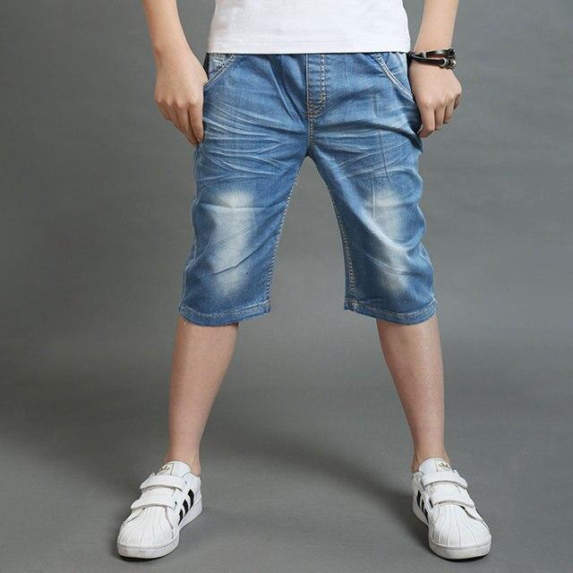 3e67ed29d Children Short Pants For Baby Boys Trousers Kids Boy Jean Pants Casual Denim  Blue Color Jeans Shorts Baby Boy Summer Clothes