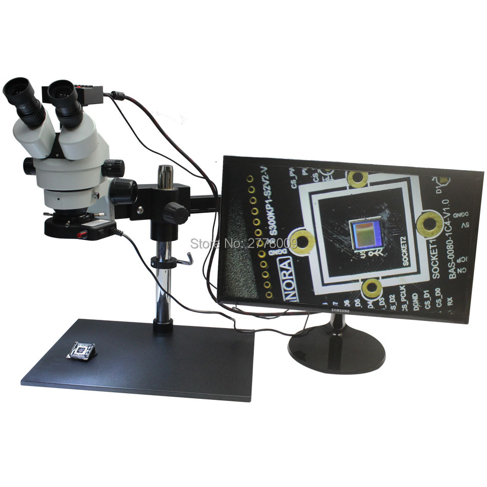3.5X~90X Trinocular Guide Stereo Zoom Microscope  With 16MP 1080P HDMI Camera 25cm Working Distance PCB Inspection Phone Repair
