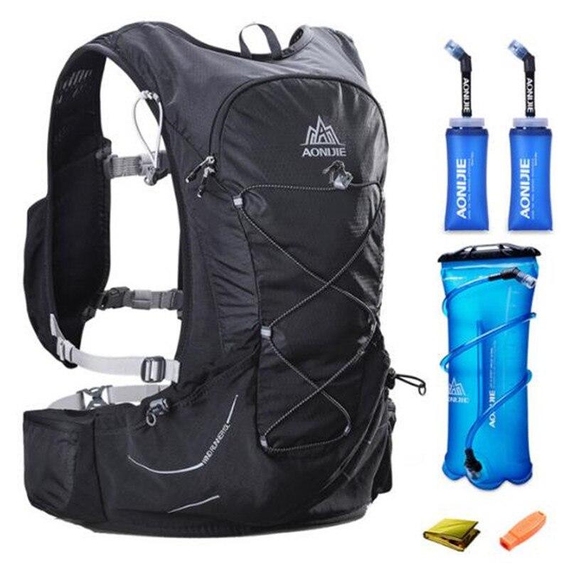 AONIJIE course Marathon 15L course en plein air léger sac à dos d'hydratation pour 3L vessie pour randonnée Camping femmes hommes