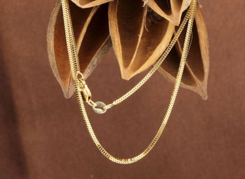 New Pure Au750 18K Yellow Gold Women's Milan Box Chain Necklace 20inch 4