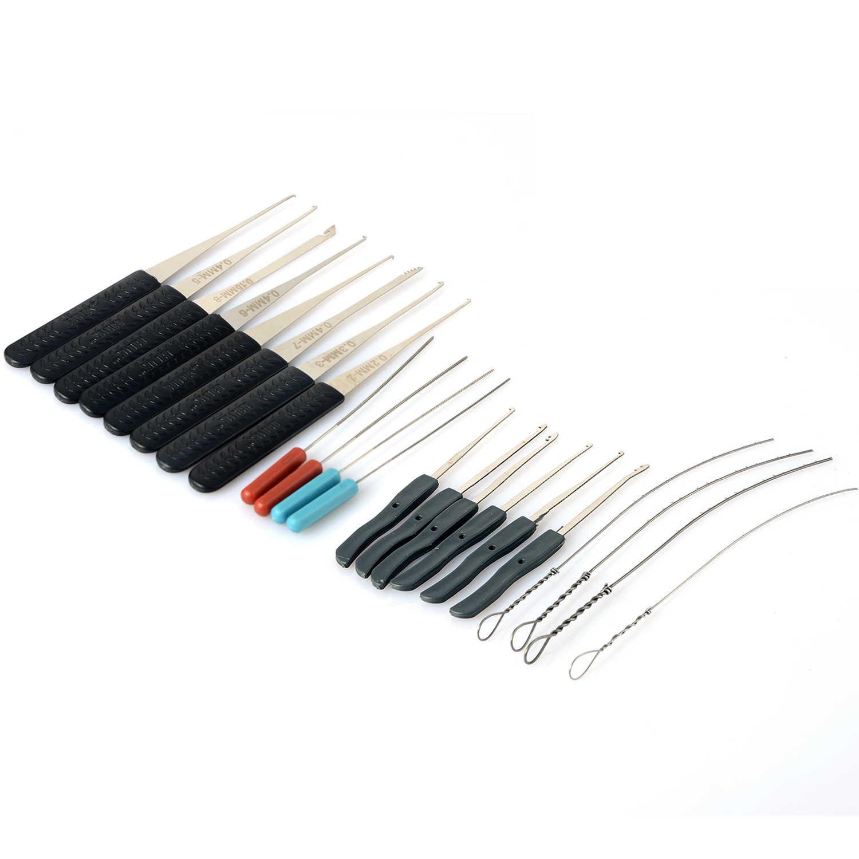 Lock Pick Set Locksmith Alat Kunci Pin Rusak Kunci Extractor Kunci Menghapus Kait Kunci Tangan Profesional Alat 12 Pcs + 10 Pcs