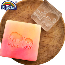 Pure love handmade soap stamp mold Elephant Clear diy natural organic glass resin chapter acrylic chapters custom 3Z0207DX