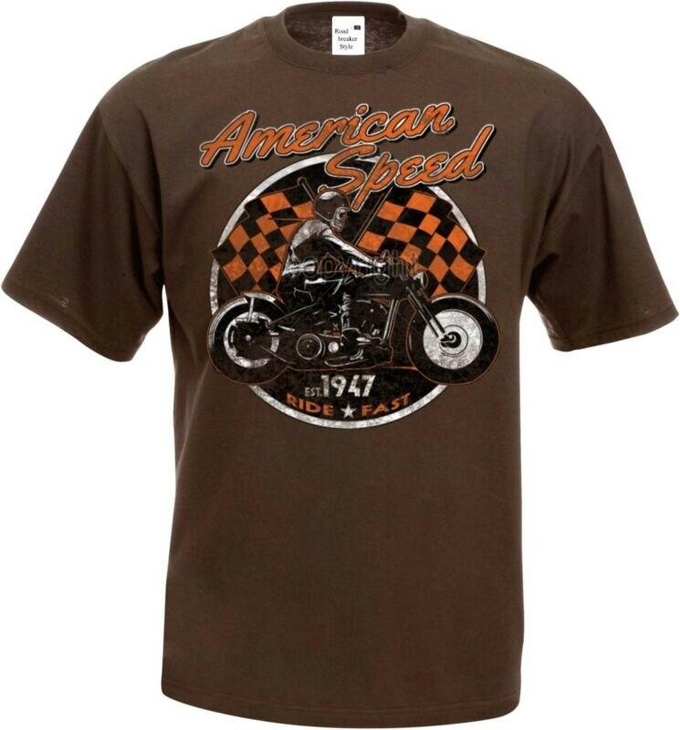 ,Chopper-/& OldSchoolmotiv Modell American Bike Worker Shirt Vintage-,HD- Biker