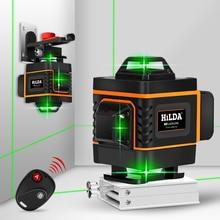 16 линий 4D лазерный уровень зеленая линия самонивелирующийся 360 горизонтальный и вертикальный супер мощный лазерный уровень зеленый луч лазерный уровень