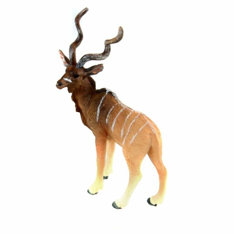 WAXSAM 2017 NEW PVC Animals Kudu Static Model Plastic Action Figures Educational Toys Gift for Kids pivothead ph410 kudu camouflage экшн камера
