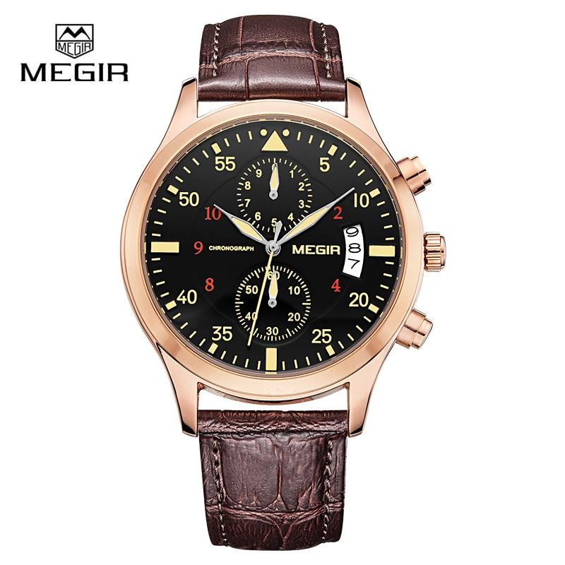 Megir Clock Male Watch Men Watches 2018 Top Brand Luxury Famous Style Quartz Watch Wrist for Men Quartz-watch Relogio Masculino