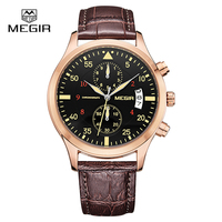 Megir Clock Male Watch Men Watches 2018 Top Brand Luxury Famous Style Quartz Watch Wrist for Men Quartz watch Relogio Masculino