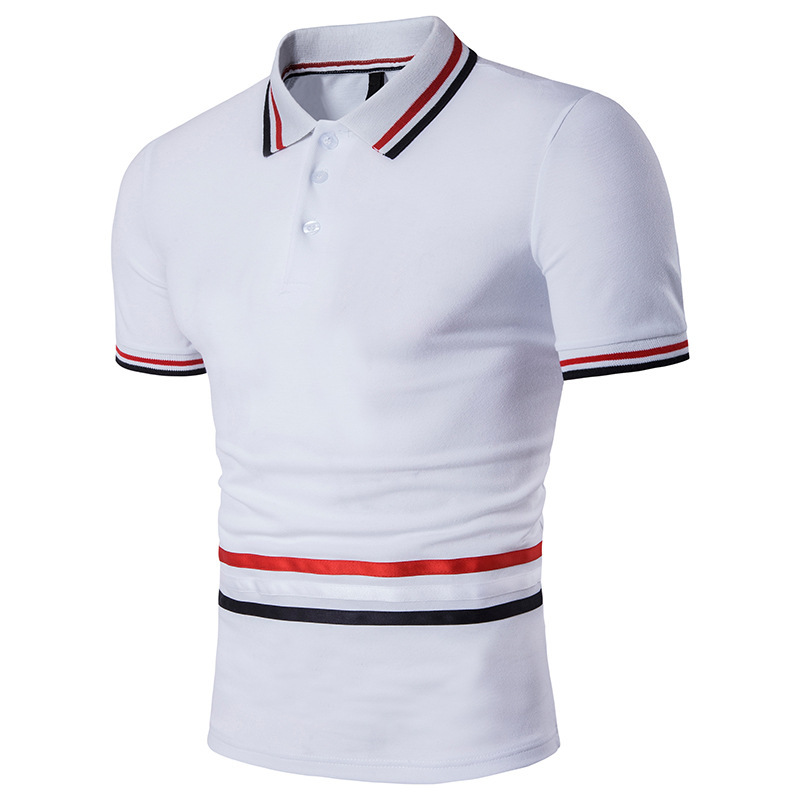2018 Summer Cotton Man   Polo   Shirts Solid Color Short Sleeve Slim Breathable New Brand Men's   Polos   Shirts Male Casual Tops B88