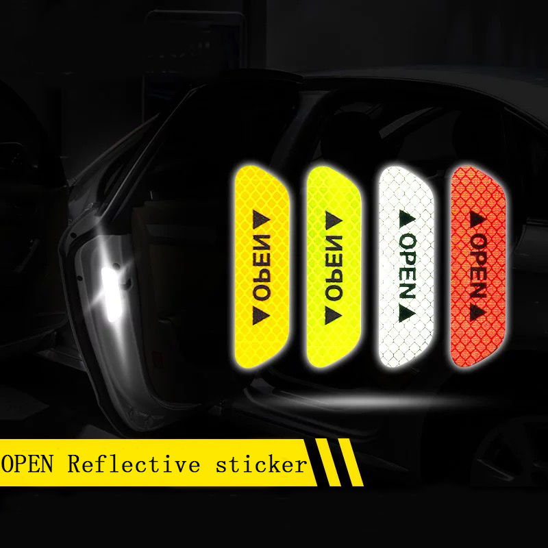 HTB1XnnrerPpK1RjSZFFq6y5PpXaI - Reflective stickers 4pcs For Car door safety