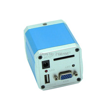 Big discount Free Shipping 1080P VGA USB C-mount Full HD Industrial Microscope Camera SD Card Video Recorder