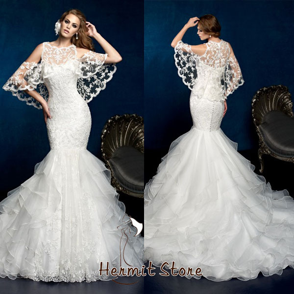 Online Zm Kleinfeld Wedding Dresses With Ruffled Organza Bottom Trumpet Dress Aliexpress Mobile Kleinfield