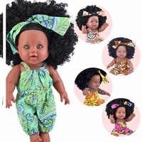 Nero bambole del bambino pop verde Africano! 12 pollici reborn in vinile del silicone 30 centimetri neonato poupee boneca molle del bambino del giocattolo della ragazza kid todder