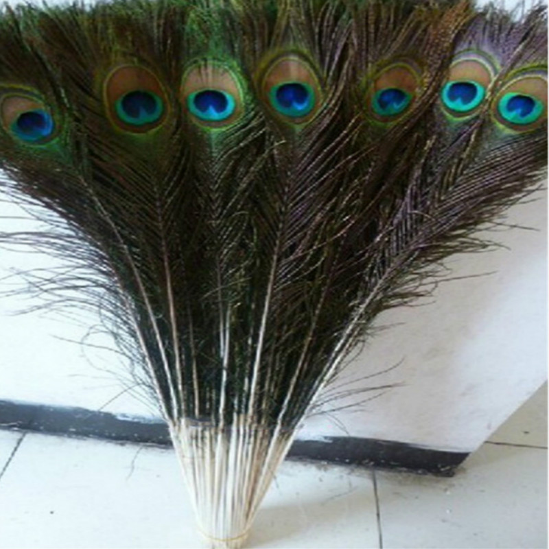 Free shipping wholesale high quality 100pcs Rare natural peacock feather 80 90cm 32 36inch decorative diy