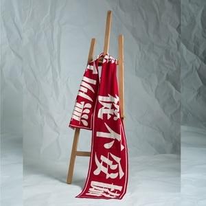 Image 5 - Harajuku Chinese Knitting Scarf Womens Long Soft Wide Warm Scarf