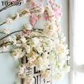 YO CHO шелковые гортензии, японские ветки сакуры, искусственные декоративные цветы для свадьбы, дома, Орхидея, искусственное дерево вишни