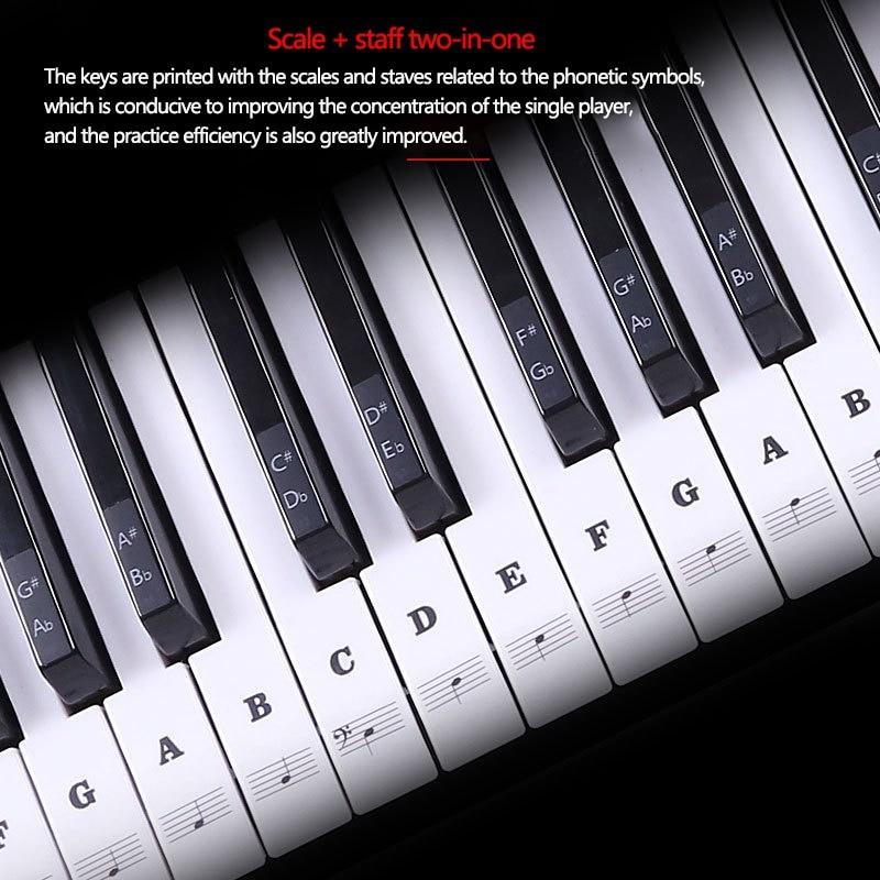 Piano Sticker Transparent Piano Keyboard Pvc Sticker 546188 Key
