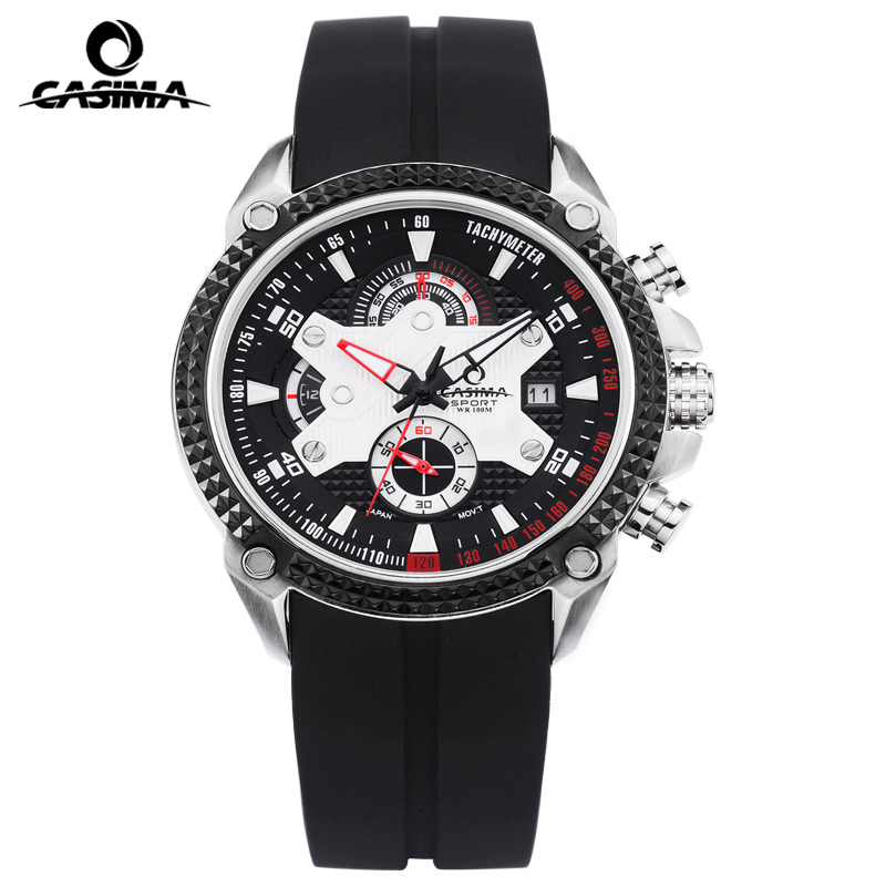 Luxury Brand CASIMA Sport Men Watches reloj hombre Casual Silicone band Military Waterproof Men Quartz Watch montre homme casima luxury brand sport quartz watches men reloj hombre fashion silicone band100m waterproof men watch montre homme clock