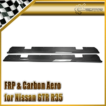 Discount Car-styling For Nissan R35 GTR Carbon Fiber VRS Style Side Skirt Under Board (For OEM side skirt) Body Kit все цены