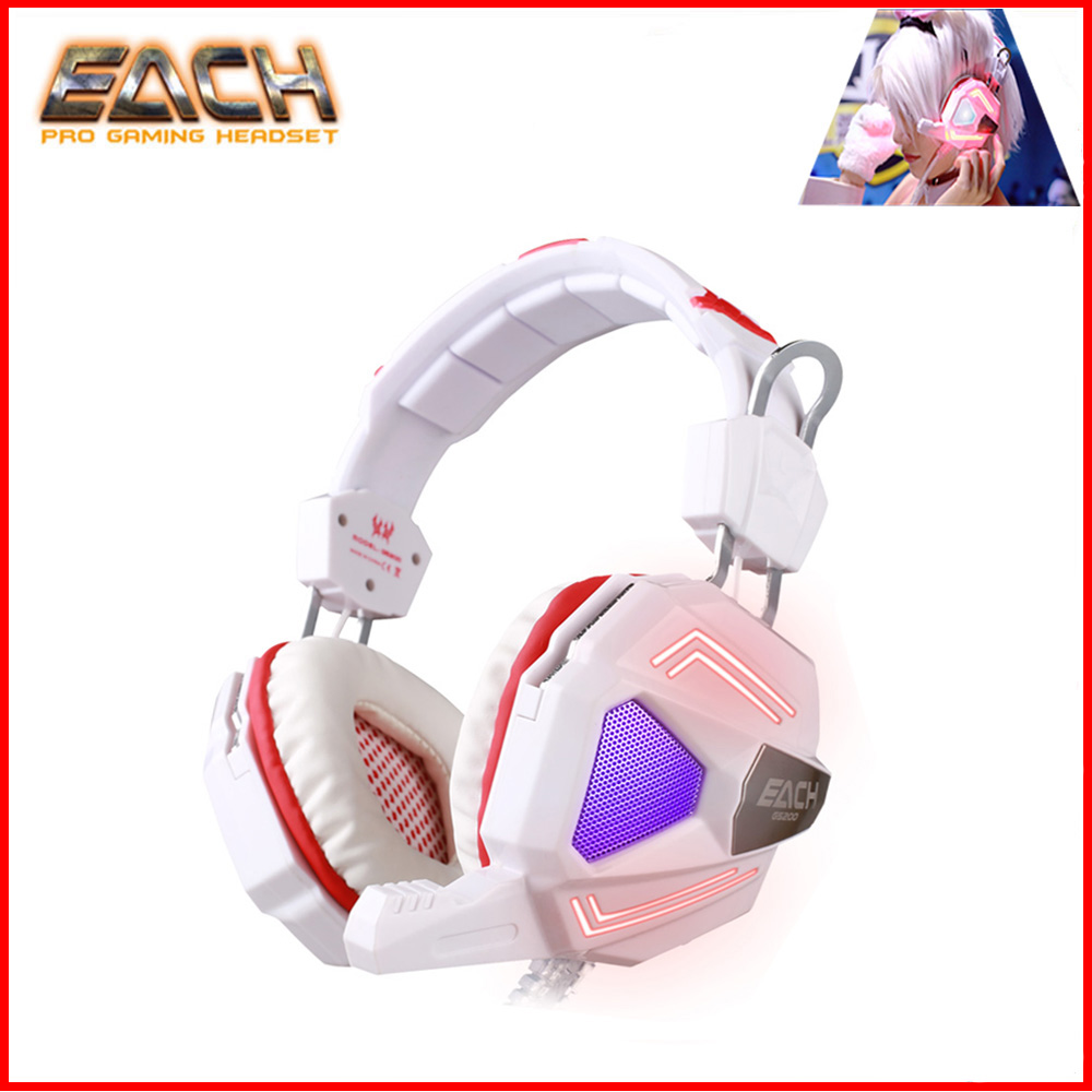 KOTINO G5200 7.1 Surround Sound  Computern  Gaming Headset Headband Vibration With Mic Stereo Bass Colorful Breathing LED Light each g2200 professional stereo bass gaming headset 7 1 surround sound vibration function pc gamer headphone with mic led light