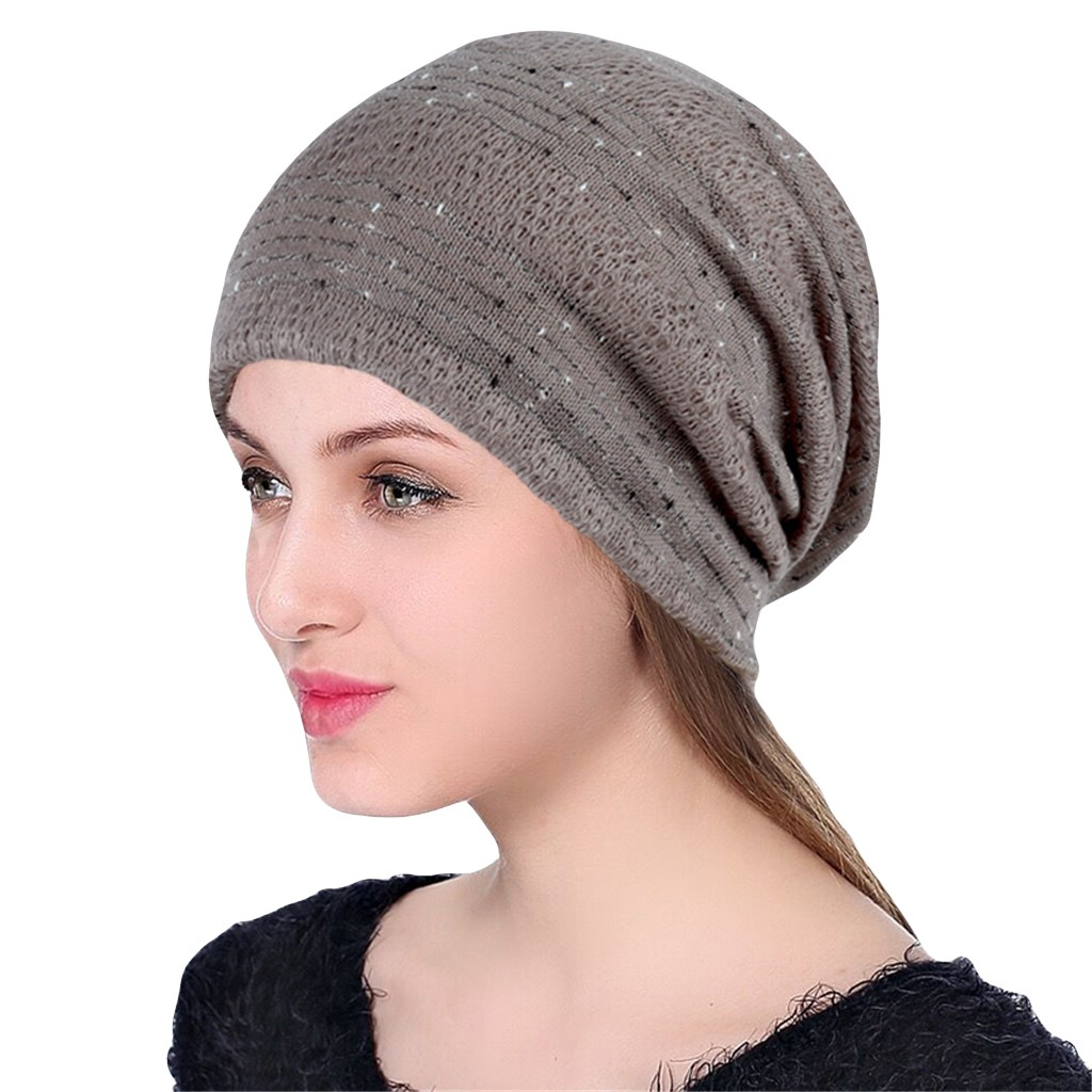 Winter Hats For Women Beanie Men Skullies Bonnets Stripe India Lace Stretch Turban Hat Knitting Hair Loss Head Scarf Wrap