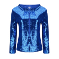 Black Blue Purple Gold Women Basic Coats Female Stylish Long Sleeve Glitter Sequins Jacket 2017 Patchwork Personality Party Tops