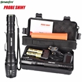 DC 12 Shining Hot Selling Drop Shipping    G700 X800 CREE XML T6 LED Zoom Tactical Military Flashlight Super Torch Set