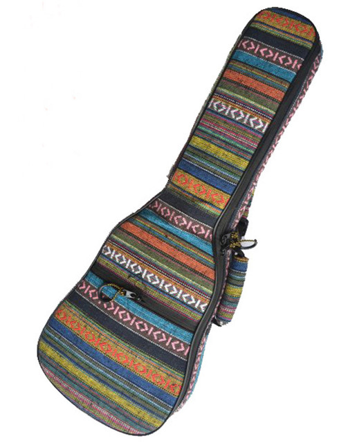 Portable durable vintage 21 23 24 26inch soprano concert tenor ukulele bags soft gig backpack guitar case padded cover kids gift
