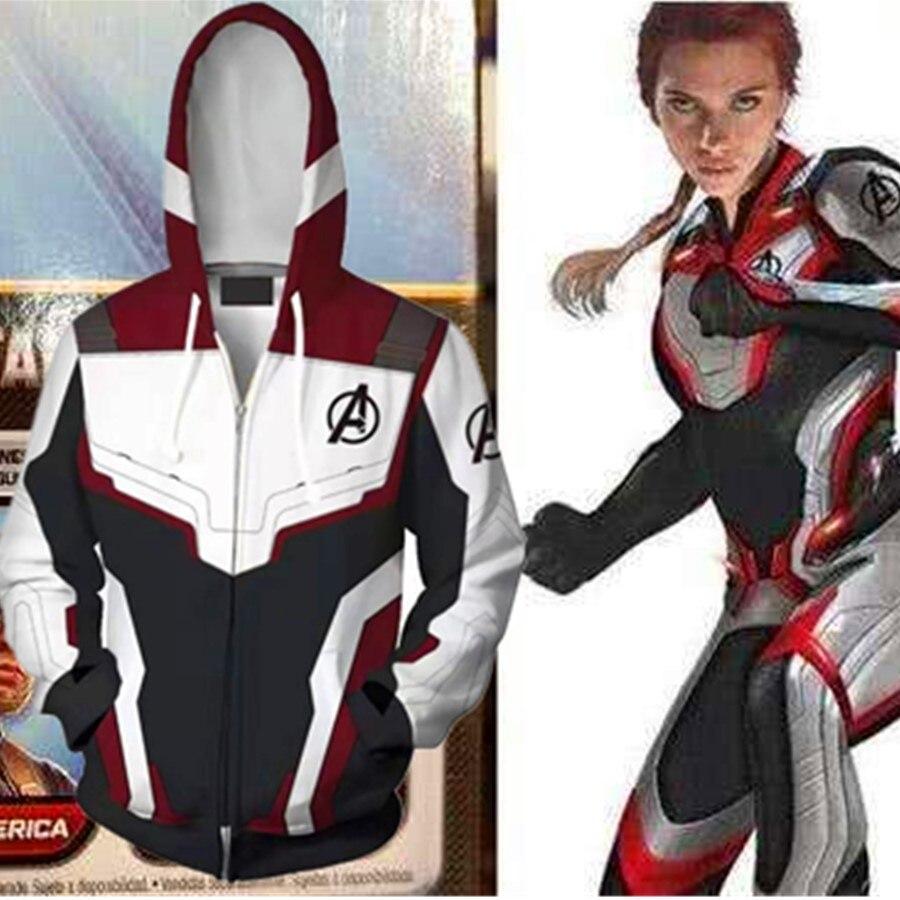 Avengers: Endgame Costume Hoodie Quantum Battle Suit Cosplay Anime Hoodie Sweatshirts 3D Men New