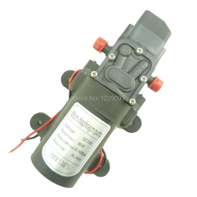 Автоматический контроль давления 45 Вт 4л/мин 12 вольт маленький Электрический водяной насос постоянного тока для распыления, очистки|small electric water pump|pump dcwater pump | АлиЭкспресс