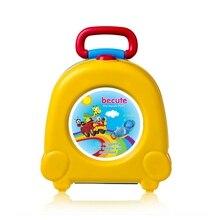 ABKM популярный детский маленький Туалет для путешествий детский портативный туалет для путешествий портативный переносной Туалет желтый