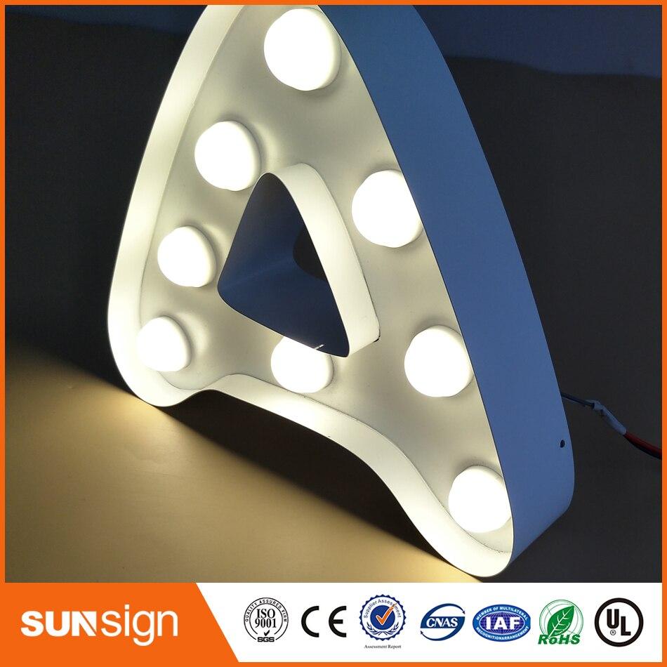 Manufacturer frontlit stainless steel LED light letters sign for store