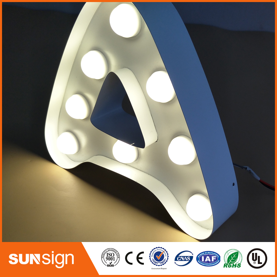 Aliexpress Manufacturer Frontlit Stainless Steel LED Light Letters Sign For Store