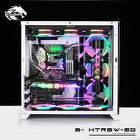 Bykski B HTRBW ED, RBW 5v 3pin Hard Tube Program Kits, Multiple Programs Customizable Modification For Intel/AMD Cooling Kit