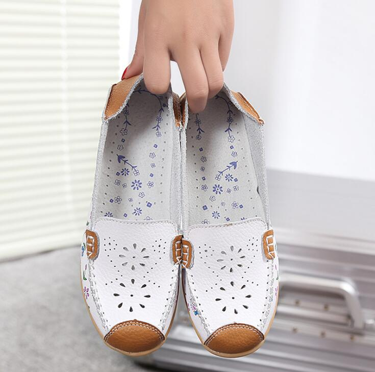Designer Women Genuine Leather Loafers Mixed Colors Ladies Ballet Flats Shoes Female Spring Moccasins Casual Ballerina ShoesDesigner Women Genuine Leather Loafers Mixed Colors Ladies Ballet Flats Shoes Female Spring Moccasins Casual Ballerina Shoes