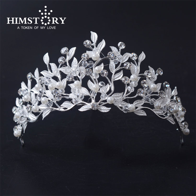 Beauty Hair Tiara Princess Rhinestone Crystal Bridal Crown Hairband Leaves  Vine Decoration Jewelry for Wedding Party