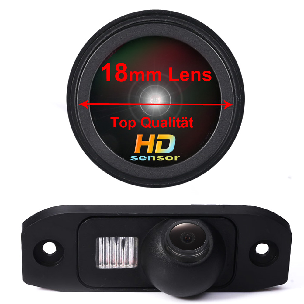 HD CCD 1280*720 Pixels 18 Mm Lens Parking Rear View Car Camera For Volvo  S40L V40 V50 S60 S60L V60 XC60 V70 XC70 S80 S80L XC90