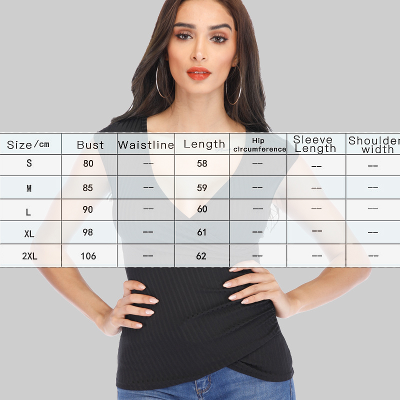 V Neck Chest Cross Cotton Short Sleeve T shirt Tops For Women Summer Sexy Casual Fashion High Quality Tee Black Red Female in T Shirts from Women 39 s Clothing
