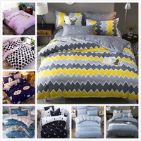 Colorful Wave Stripe Quilt Pillow Duvet Cover Sheet Pillowcase 3/4 pcs Bedding Set Adult Kids Bed Linens Single Queen King Size