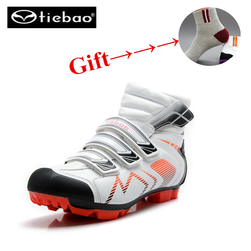 9a037404b7 TIEBAO Professional Cycling Shoes sapatilha ciclismo Men winter superstar MTB  Shoes Windproof Athletic Self-Locking Ankle Boots
