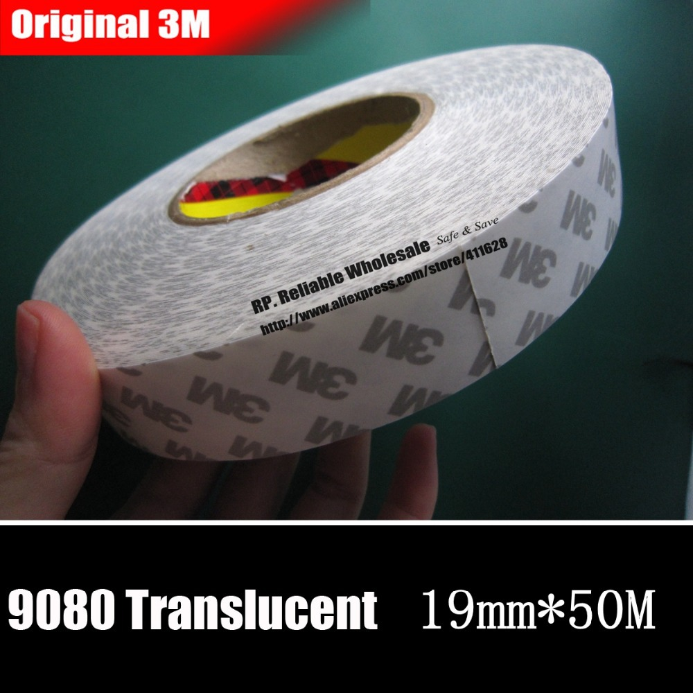 1 Roll 19mm*50M Double Sided Adhesive Tape, High Adhesion, for Office Daily Using, Electronic Panel Bond, LED Strip 60 50mm 2000 sheets per roll single row thermal transfer adhesive paper can customize use sticker printer empty shipping label