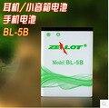 Orignal Recargable 650 Mah Baterías para B5 N85 B560 B570 Zealot Auriculares N65 baterías Nokia envío libre