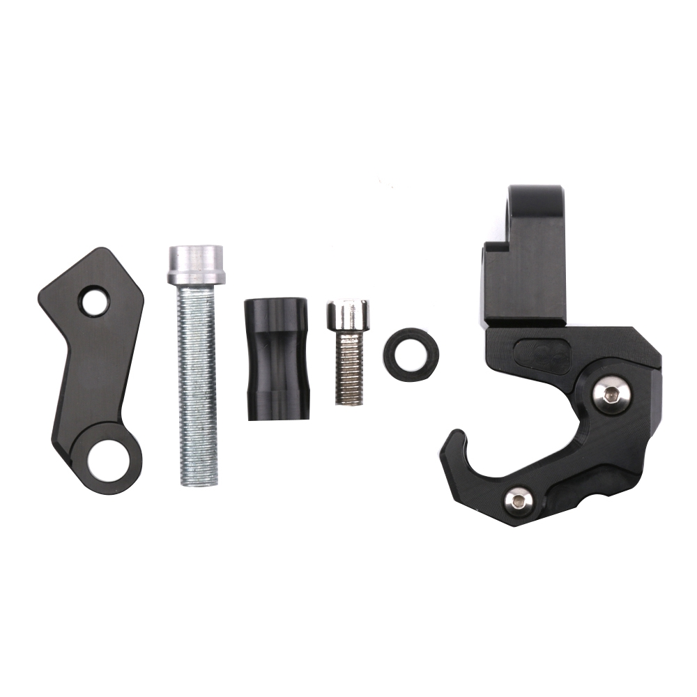 SMOK Motorcycle Accessories CNC Aluminum Alloy Folding Hanger Hook For Honda All New Forza 300 2018 (7)
