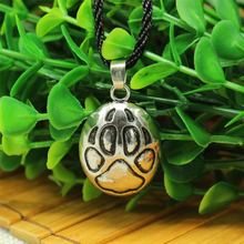 1pcs wholesale men necklace Wolf track – pendant,viking wolf paw necklace