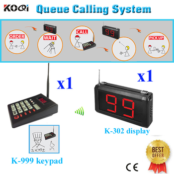 Number Waiting System Display K-302 Show 2-digit Number From 01-99 And 1pcs Keypad K-999(1 display+1 transmitter numeric