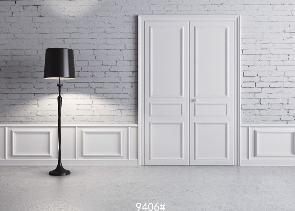 5x7ft (1.5x2.2m) सफेद दरवाजा - कैमरा और फोटो