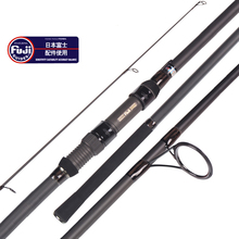Tideliner 12ft 13ft carp fishing rod 3.6m 3.9m fuji reel seat rod quality 3 sections spinning trolling carbon fiber fishing pole